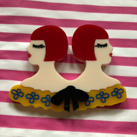 Circus Siamese Twins Brooch