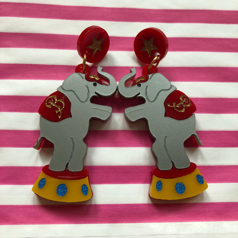 Circus Elephant Earrings