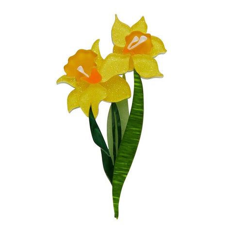 Garden of Goddess Daffodil Brooch
