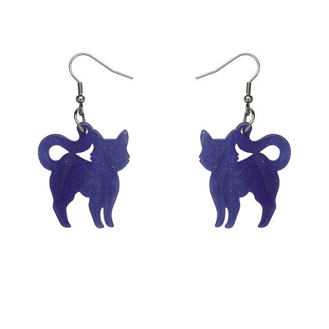 Essential Drop Earrings Pussy Cat Ripple Blue