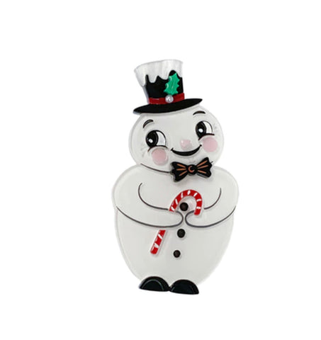 J. Parker Love at Frost Sight Snowman Brooch