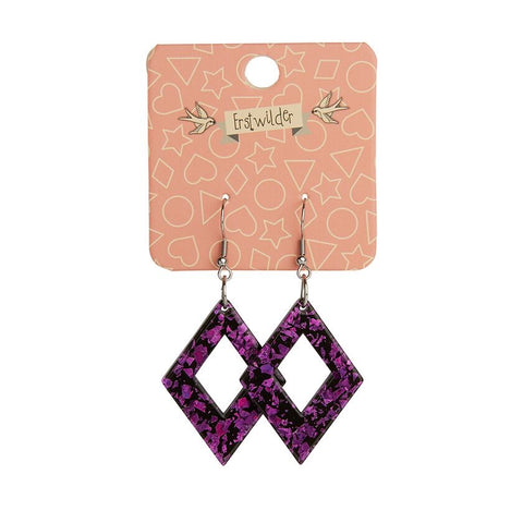 Essentials Drop Earrings Fuchsia Chunky Glitter Diamond