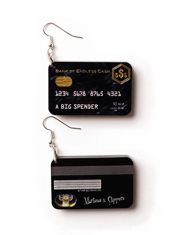 Credit Card Earrings with £