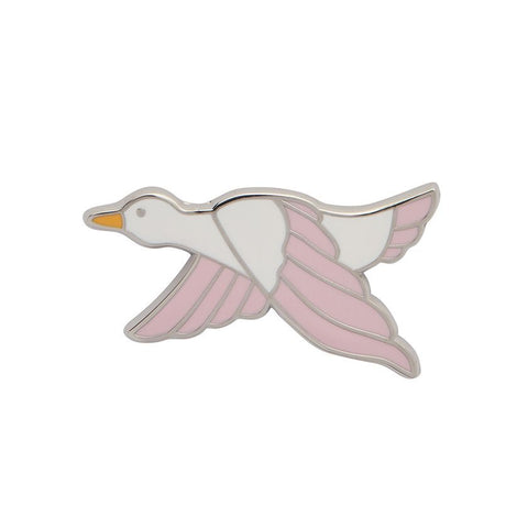 Dancing Duck Pink Enamel Pin