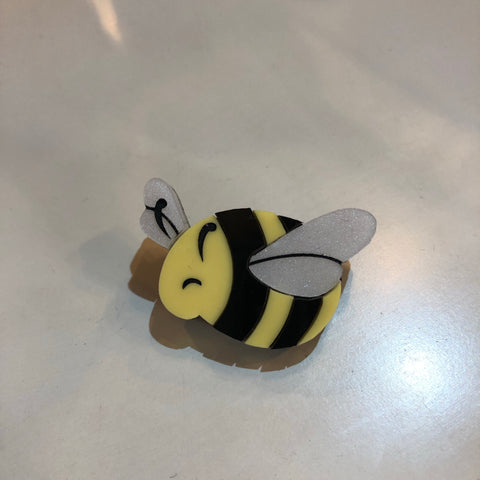 Bumbly Bee Acrylic Brooch