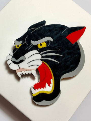 Roaring Panther Brooch