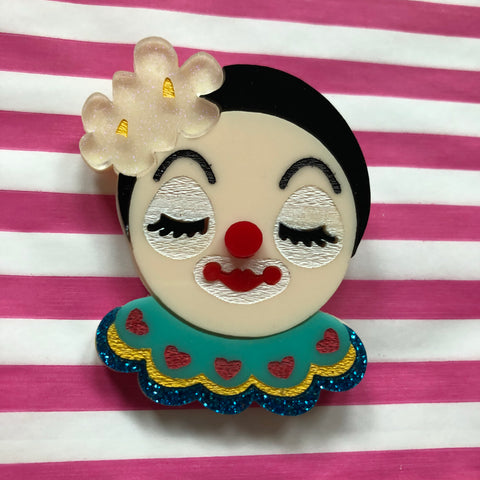 Circus Happy Clown Brooch
