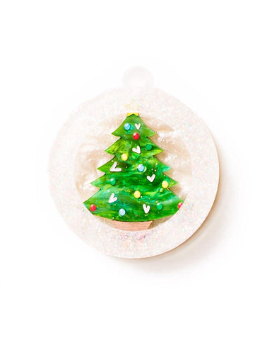 Christmas Tree Bauble Brooch