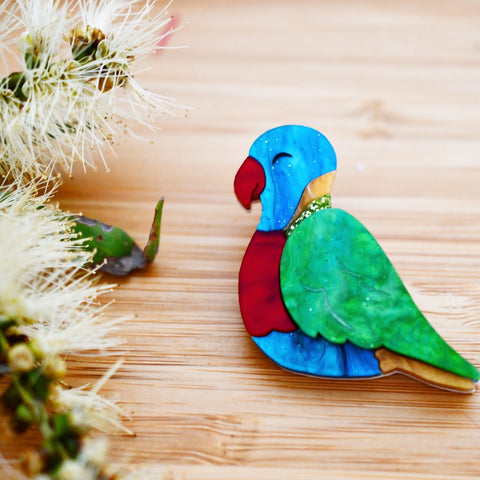 Lottie the Lorikeet Brooch