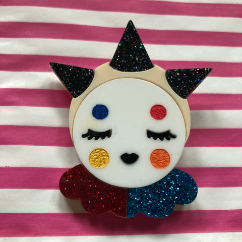 Circus Punk Clown Brooch