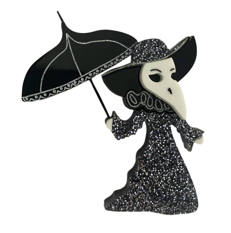 Elegant Female Plague Doctor Glitter