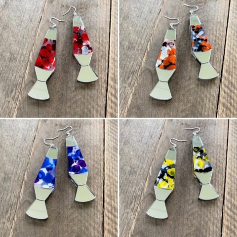 Lava Lamp Earrings