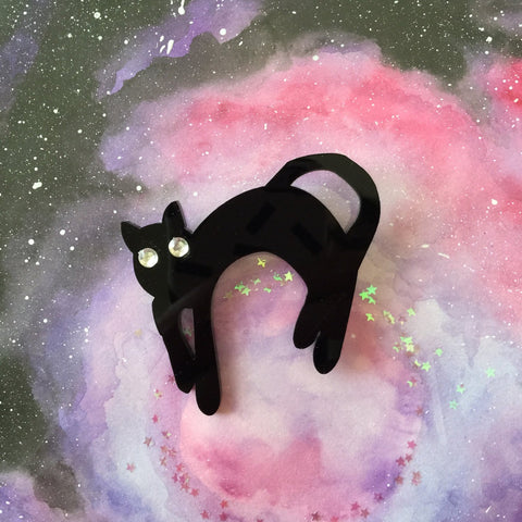 Black Cat 6th Doctor Brooch