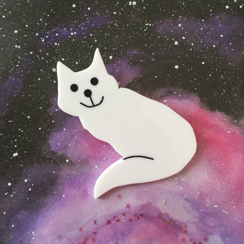 White Cat 6th Doctor Brooch