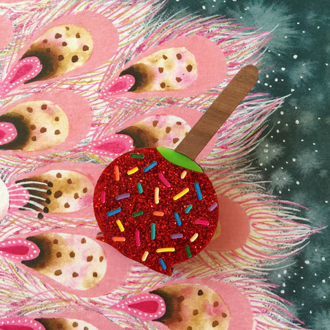 Candy Apple Brooch