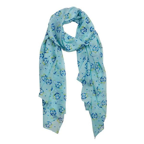 Heartfelt Hydrangea Large Neck Scarf