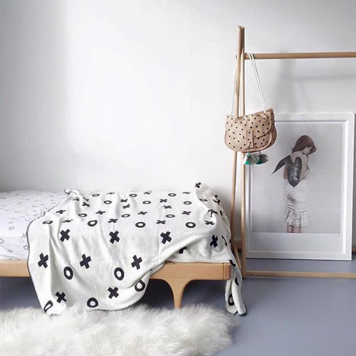 LE EDIT XO Organic Cotton Reversible Blanket