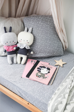 LE EDIT Grey Stars Fotted Cot Sheet