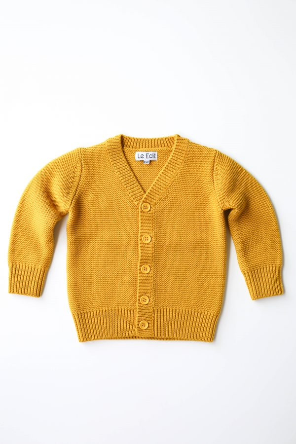 LE EDIT Citrine Merino Cardigan