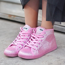 DEZZYS Pink Glitter High Top Sneakers