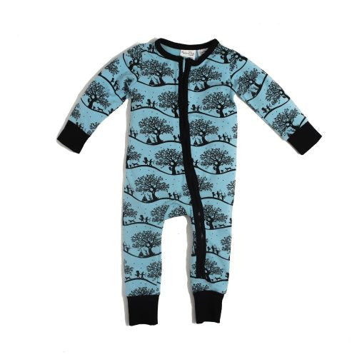ASTER & OAK Enchanted Fields 2 way Zip Romper