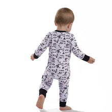 ASTER & OAK Enchanted Mono Map 2 way Zip Romper