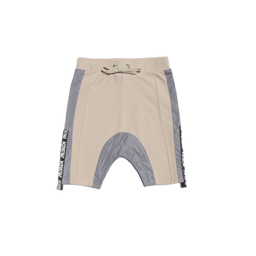 KREW KIDS Drop Crutch Skinny Shorts Stone