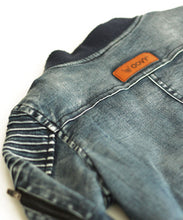OOVY Denim Inked Biker Jacket