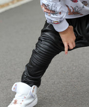 OOVY Leather Biker Pants