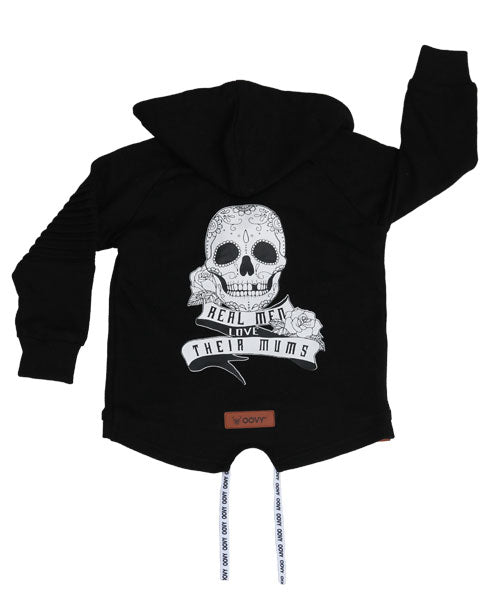 OOVY Black Zip Fleece Hoodie