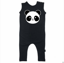 WHISTLE AND FLUTE Panda Romper