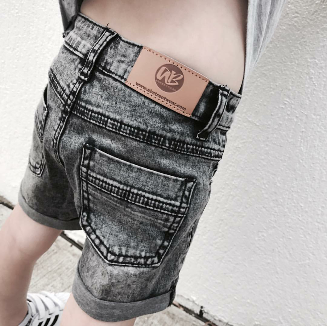AB STREETWEAR Denim Shorts