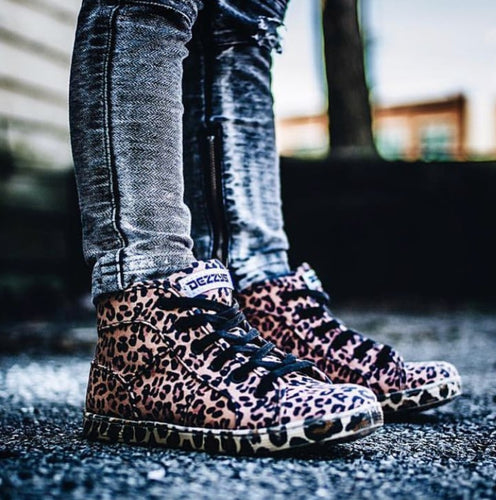 DEZZYS Leopard Hi Top Sneakers
