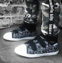 DEZZYS Skull Double Velcro Lo Top Sneakers
