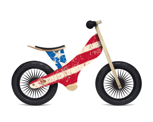 KINDERFEETS Stripes And Stars Balance Bike Pre-order