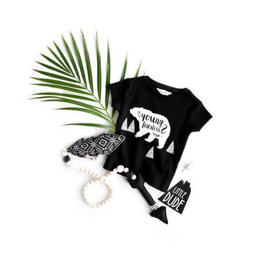 ASTER & OAK Organic Cotton Baby T-Shirt 'Young & Fearless'