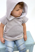 KROME KIDS Echo Hooded Tshirt Concrete