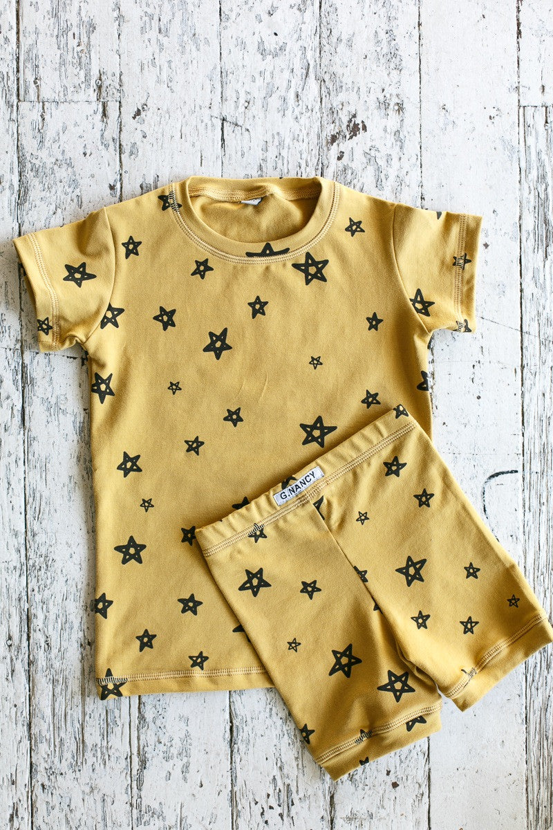G.NANCY Turmeric Star Organic Pyjamas
