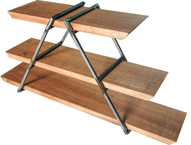 Raw Steel & Oak Collapsible 3 Tier Display