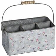 Blue Butterfly Metal Organiser Tin