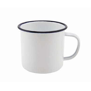 White and Blue Enamel Mug