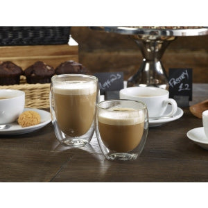 Double Walled Coffee Glass 25cl Pack of 6