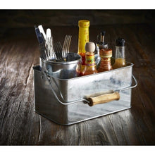 Galvanised Steel Rectangular Table Caddy