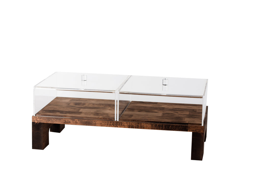 Presentation Table With Covers - Dark Wood