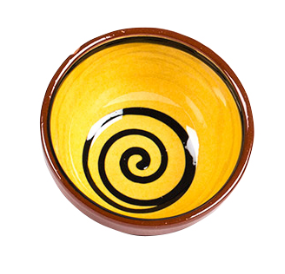 Terracotta Swirl Pudding Bowl 13cm