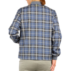 GENERATED CHECK womens lightweight bomber jacket back