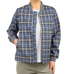 GENERATED CHECK womens lightweight bomber jacket open