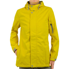 PRECIPITATE Signage Yellow womens hooded jacket front