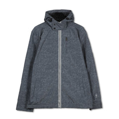 WANDERLUST THERMA Black Pepper Marl fleeced lined hooded jacket