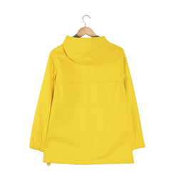 PRECIPITATE Signage Yellow womens hooded jacket back